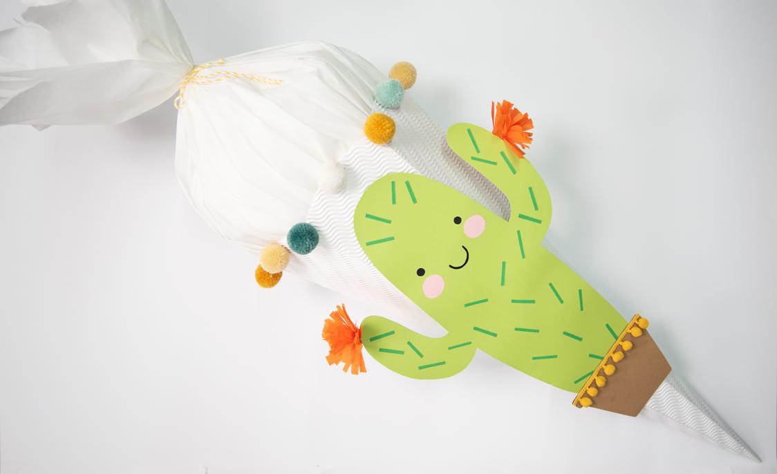 fertige Kaktus-Schultüte