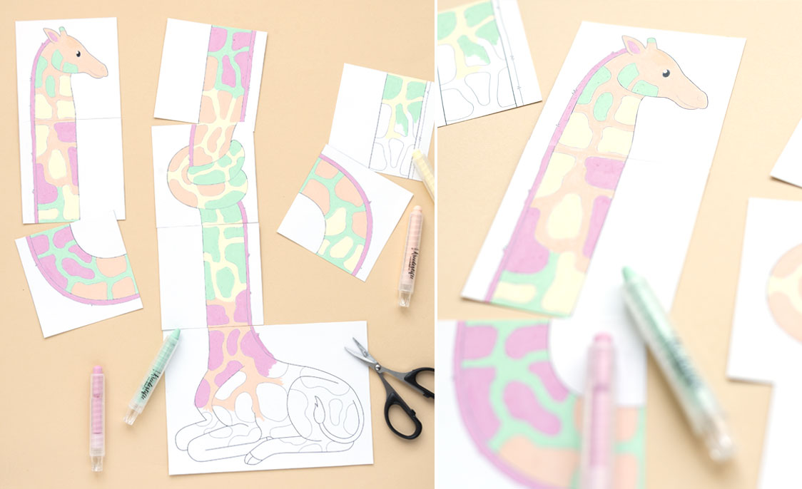 Giraffe-Legespiel - legespiel_blog